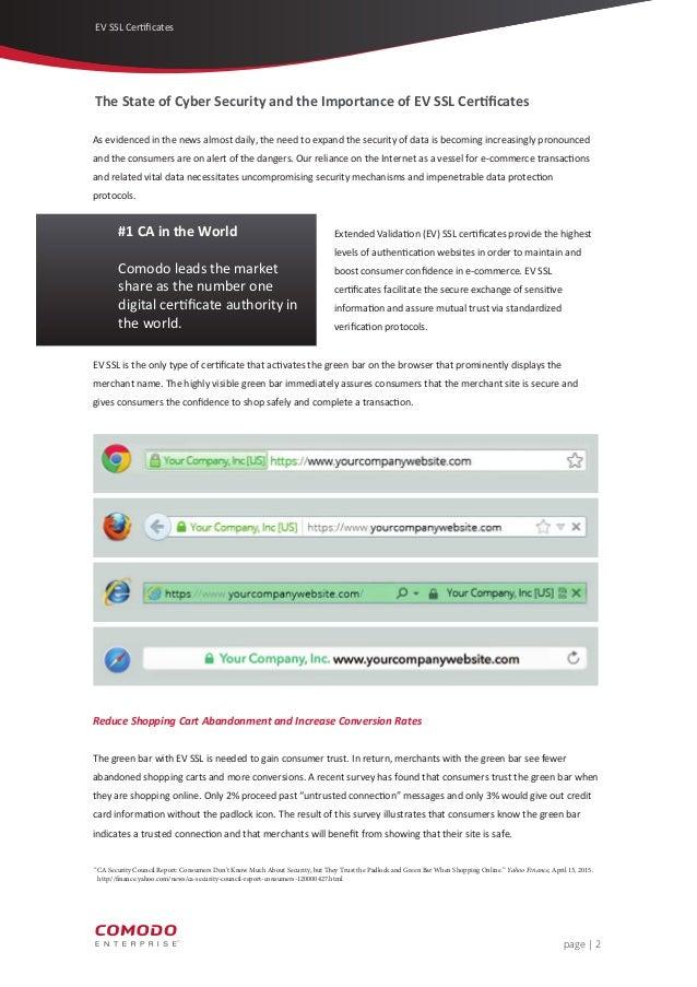 Comodo The Benefits Of Ev Ssl Certificates Cheapsslsecurity