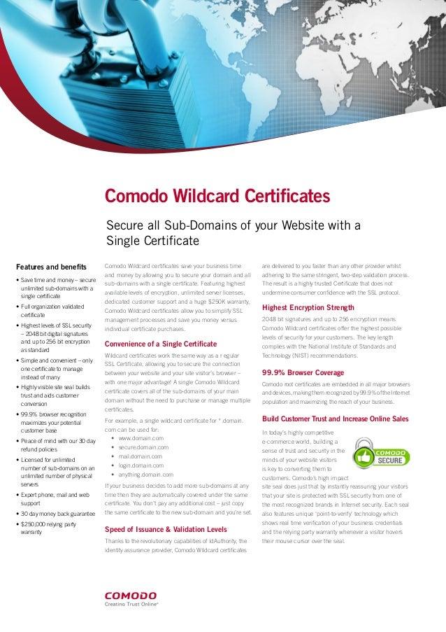 comodo wildcard works does slideshare