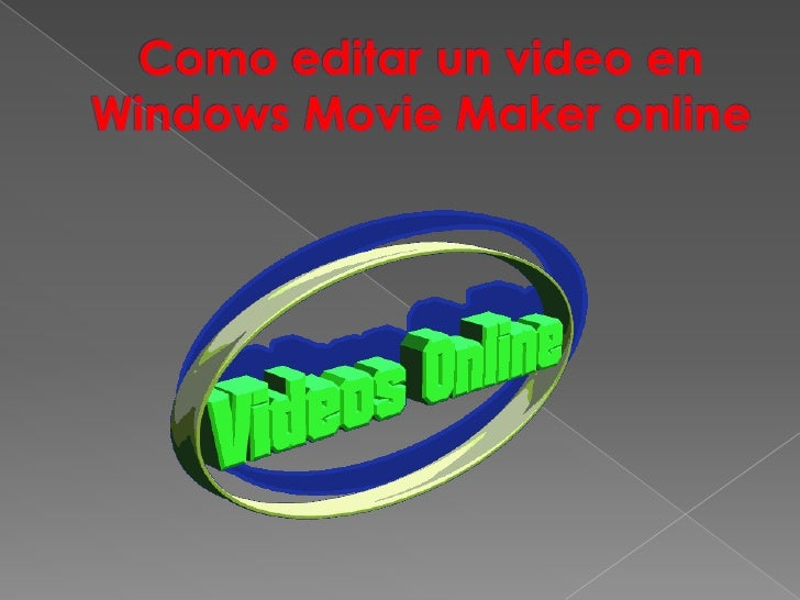 Como editar un video en Windows Movie Maker online<br />