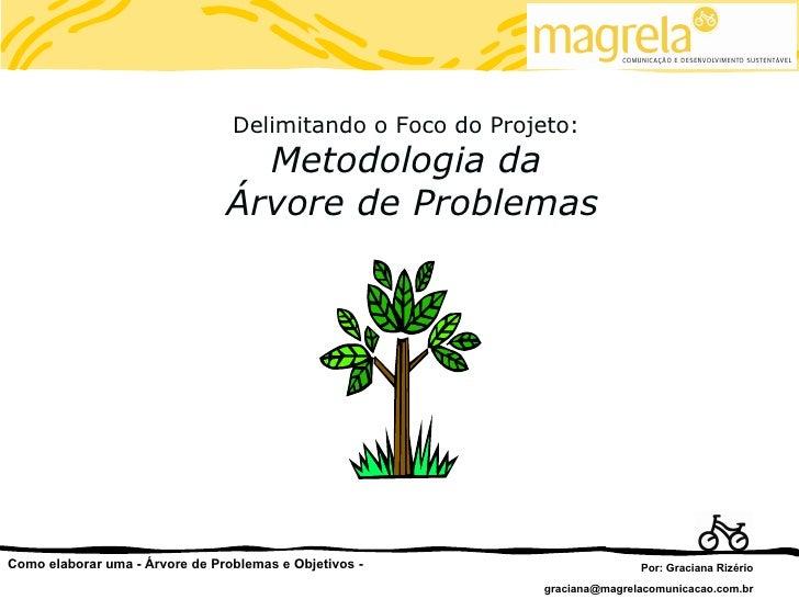Delimitando o Foco do Projeto:                                  Metodologia da                                Árvore de Pr...