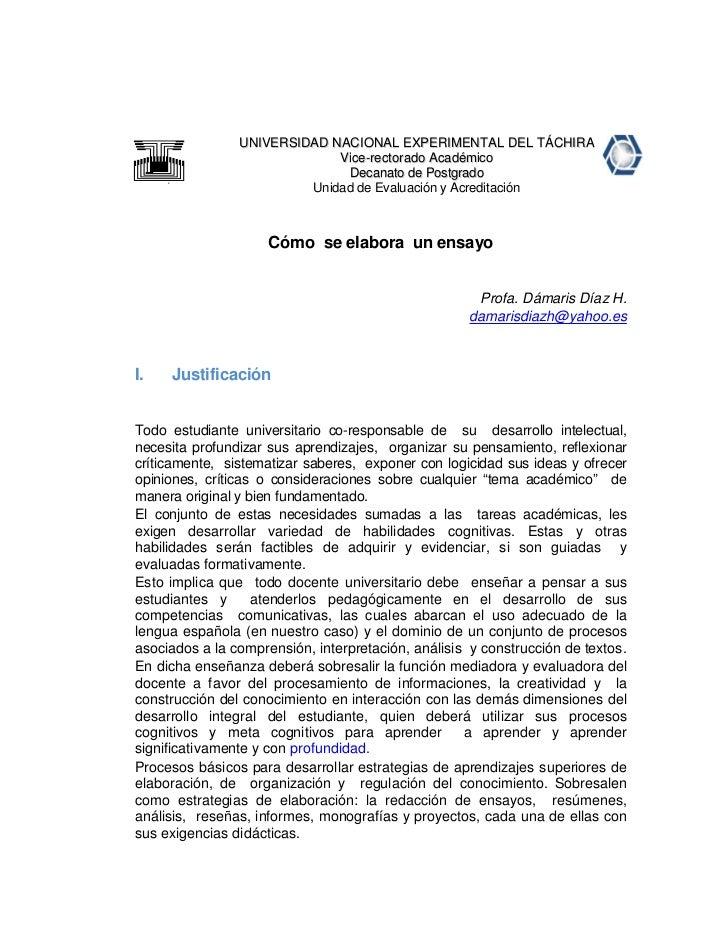 UNIVERSIDAD NACIONAL EXPERIMENTAL DEL TÁCHIRA                             Vice-rectorado Académico                        ...