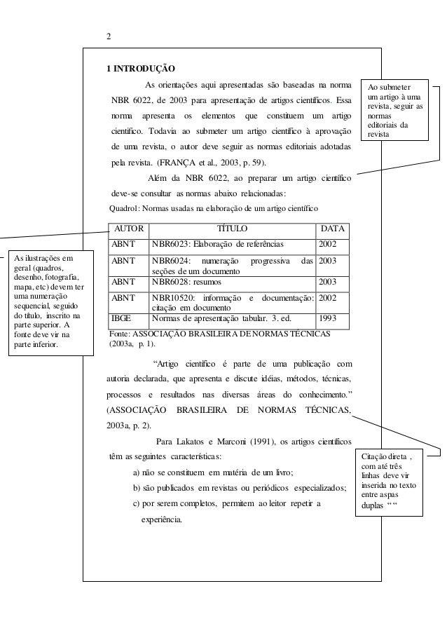 Normas artigo cientifico