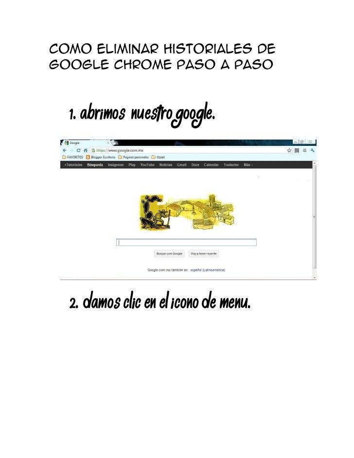1. Abrimos nuestro google.2. Damos Clic en el icono de menu.