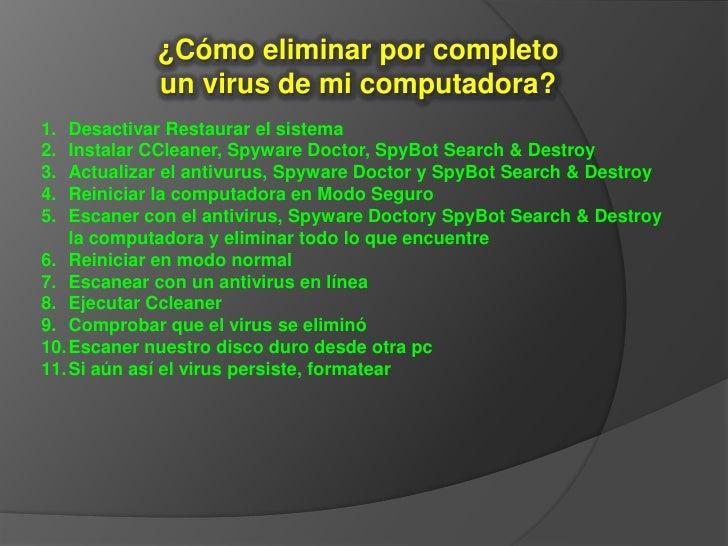 Como eliminar por completo un virus de m pc - Como panelar una pared ...