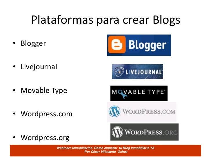 Como empezar tu blog inmobiliario ya   cesarvillasante Slide 3