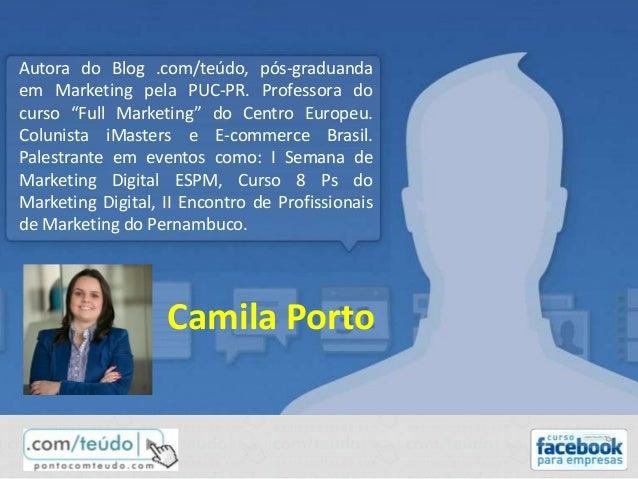 """Autora do Blog .com/teúdo, pós-graduanda em Marketing pela PUC-PR. Professora do curso """"Full Marketing"""" do Centro Europeu...."""