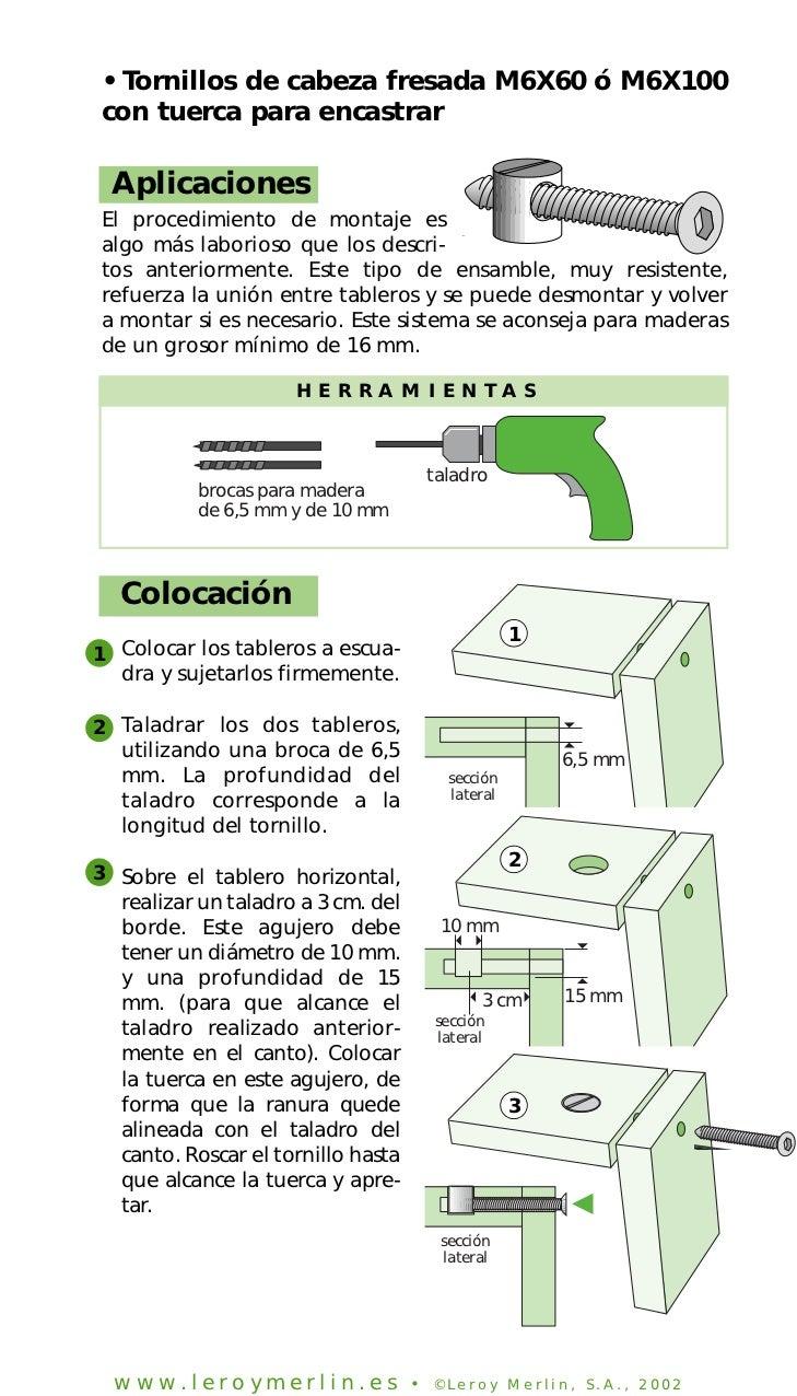 Como ensamblar muebles for Tornillos para muebles