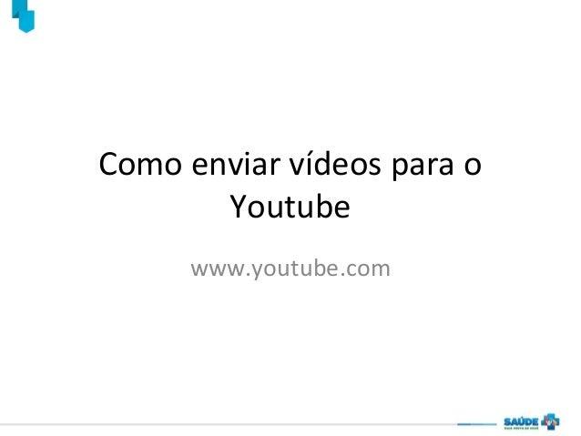 Como enviar vídeos para o Youtube www.youtube.com