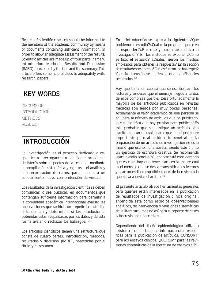 Results of scientific research should be informed to     En la introducción se expresa lo siguiente: ¿Quéthe members of th...
