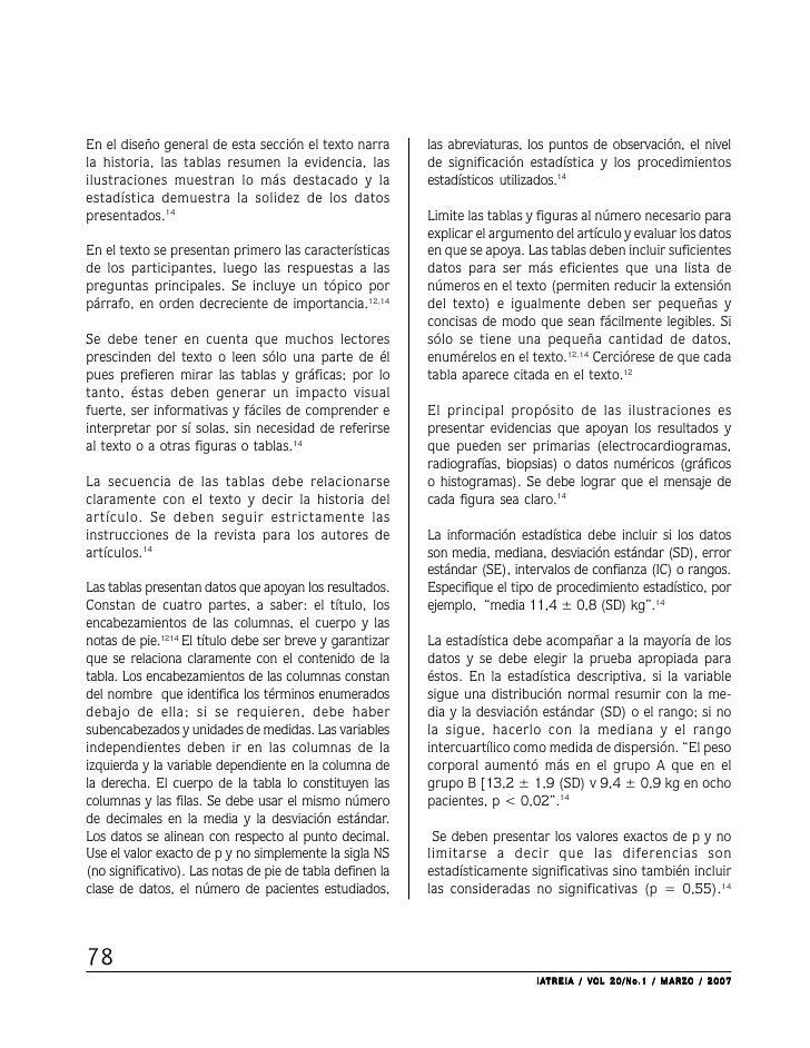 En el diseño general de esta sección el texto narra        las abreviaturas, los puntos de observación, el nivella histori...