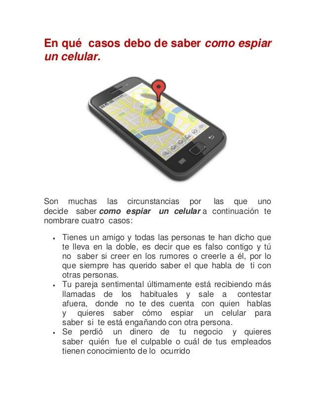 Como espiar un celular, sin que nadie se de cuenta Slide 3