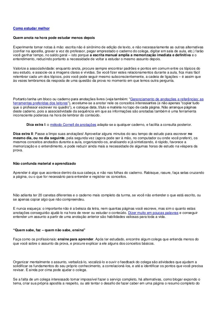 """HYPERLINK """"http://www.efetividade.net/2011/02/14/como-estudar-melhor/"""" o """"Permalink to Como estudar melhor"""" Como estudar ..."""