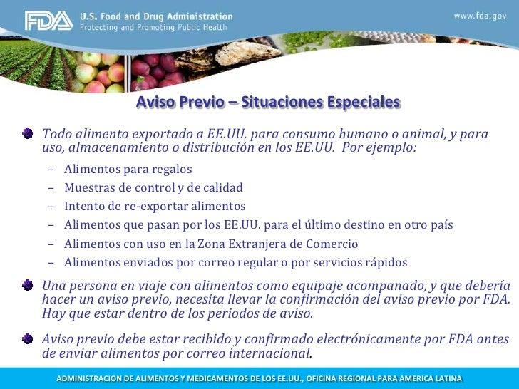 Requisitos de la FDA para exportar alimentos procesados a EEUU