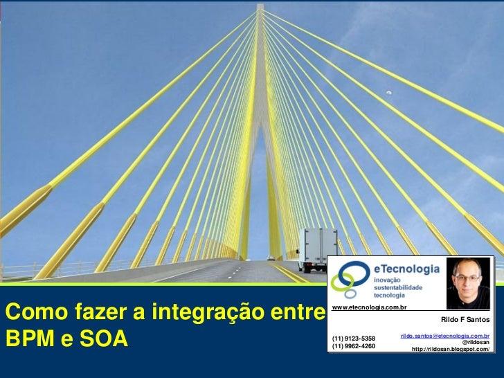 SOA, a TI integrada com oComo fazer a integração entre BPM e SOA                                                          ...
