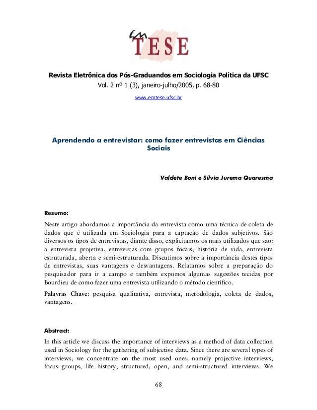 Revista Eletrônica dos Pós-Graduandos em Sociologia Política da UFSC                    Vol. 2 nº 1 (3), janeiro-julho/200...
