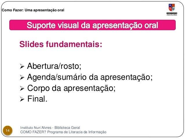 Como fazer slides para apresentacao