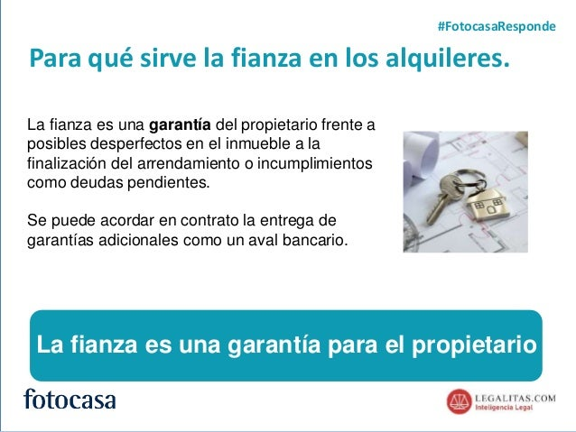 Cómo funciona la fianza del alquiler (webinar fotocasa) Slide 2