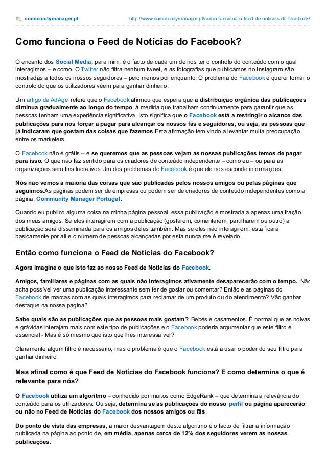 communitymanager.pt http://www.communitymanager.pt/como-funciona-o-feed-de-noticias-do-facebook/ Como funciona o Feed de N...