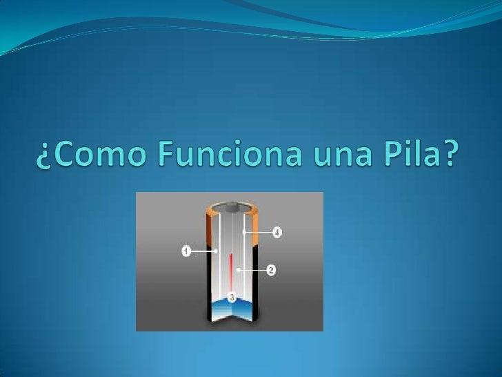 Como funciona una pila for Como funciona una depuradora