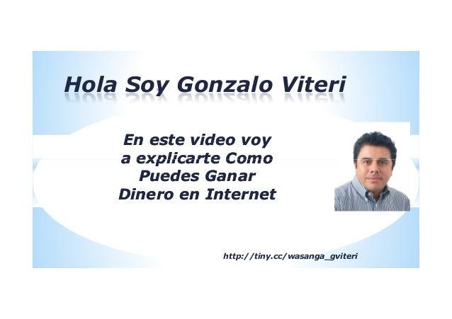 Hola Soy Gonzalo ViteriEn este video voyEn este video voya explicarte Comoa explicarte Comoa explicarte Comoa explicarte C...