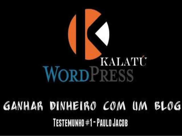 O Blog é uma plataforma de arquivo de conteúdo que fica para sempre na Internet Se tu tiveres o teu blog com conteúdo de v...