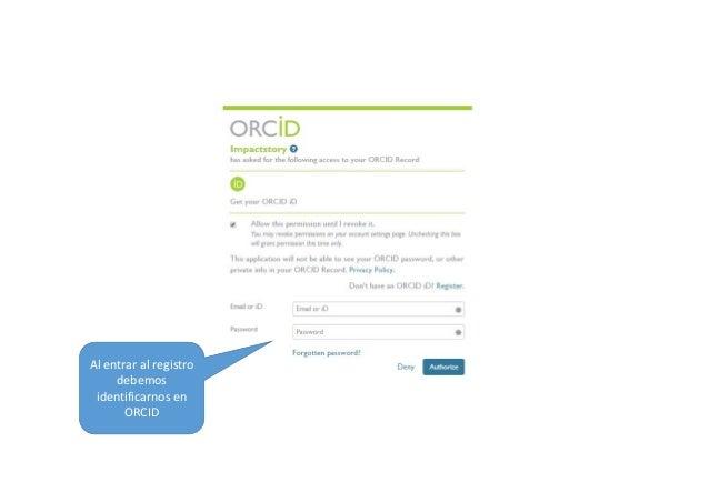 Interaccióncon ORCID