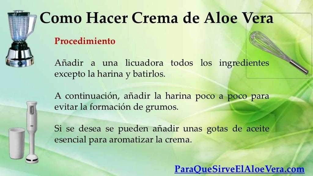 Como Hacer Crema De Aloe Vera