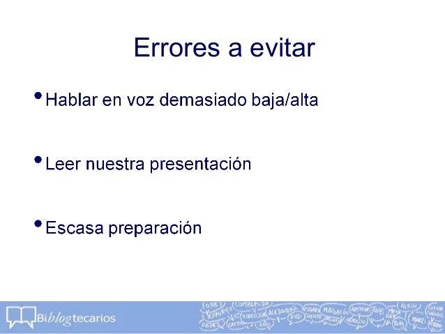 Errores a evitar