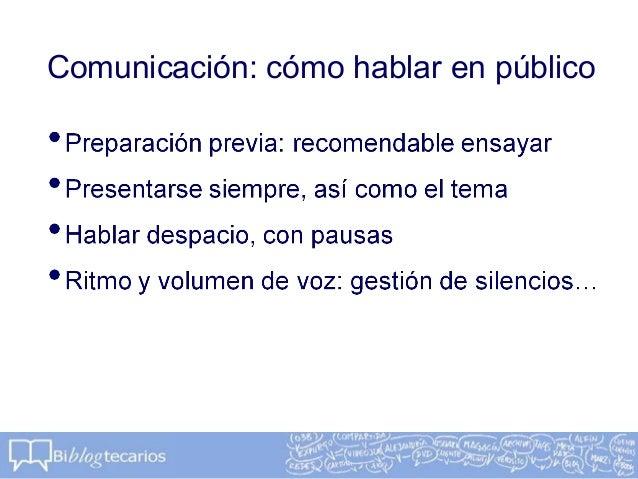 Comunicación: cómo hablar en público