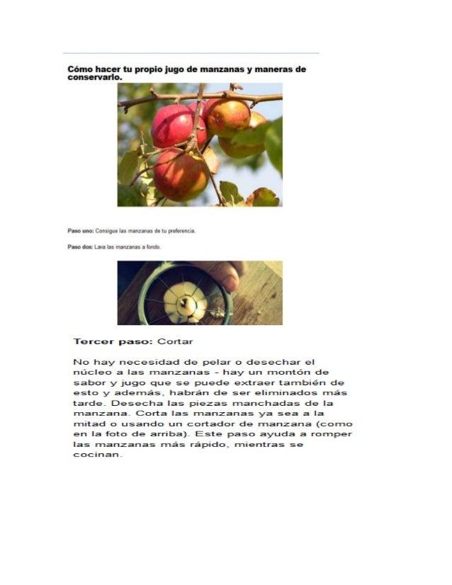 Como hacer tu propio jugo de manzanas y conservarlo