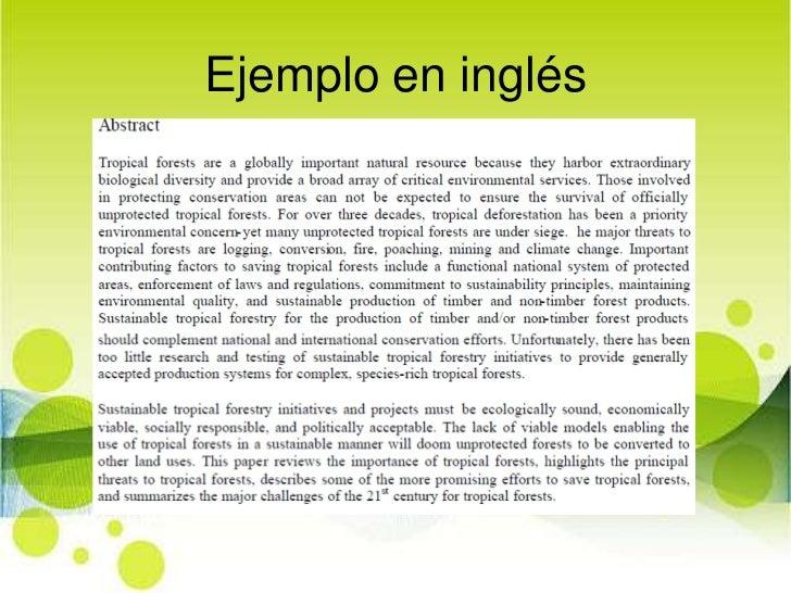 ejemplo en espaol 12 - Como Hacer Un Resume En Ingles