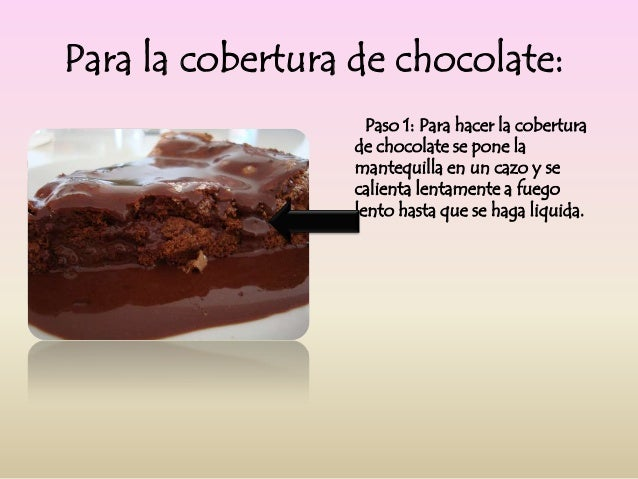 ingredientes para preparar torta de chocolate