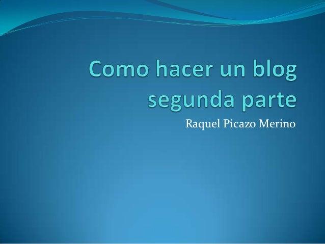 Raquel Picazo Merino