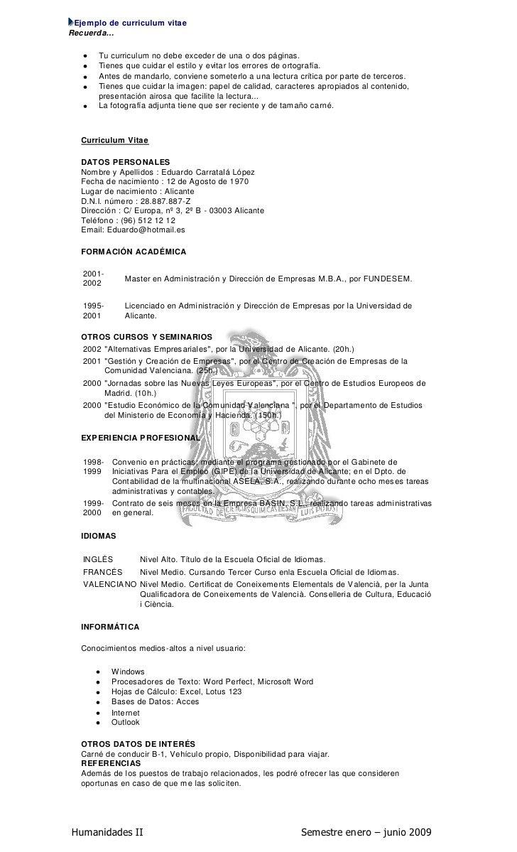 Famoso Ejemplos Objetivos De Curriculum Vitae De Prácticas Ornamento ...