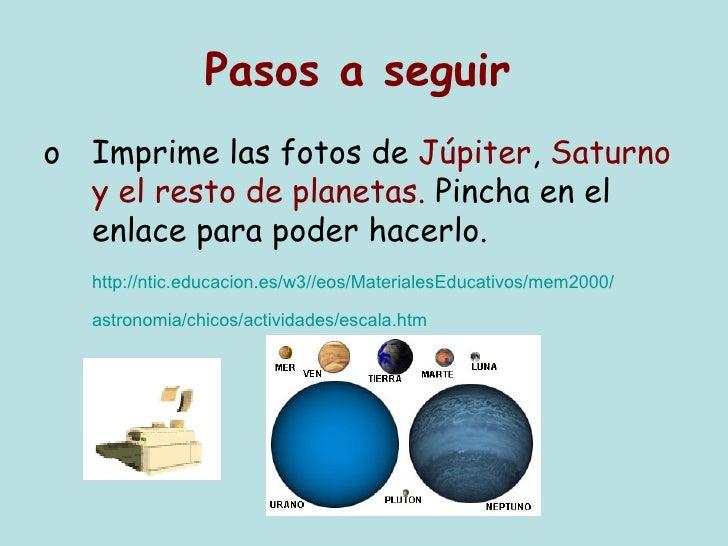 como hacer un mural de los planetas a escala