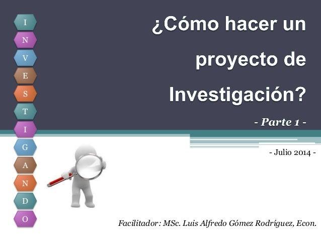 Como hacer un proyecto de investigaci n parte 1 - Como crear un proyecto ...