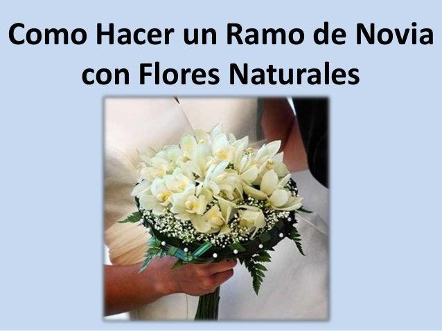 Como hacer un ramo de novia con flores - Como hacer ramos de flores ...