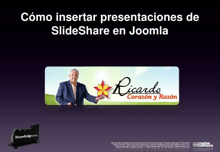 Cómo insertar presentaciones de SlideShare en Joomla<br />