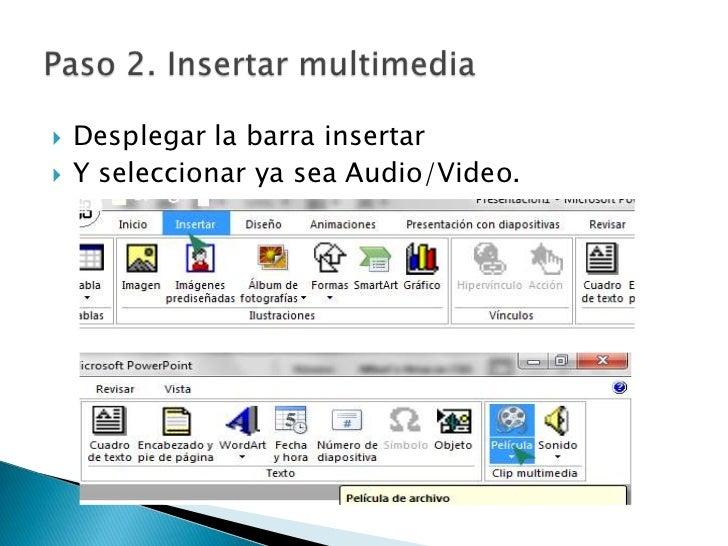 como insertar video en power point