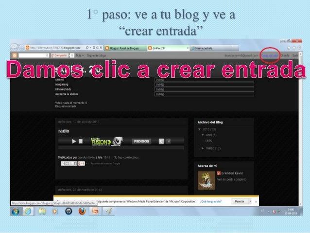 Como insertar un video a tu blog s Slide 2
