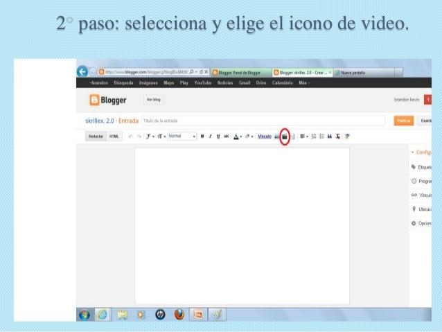 Como insertar un video a tu blog s Slide 3