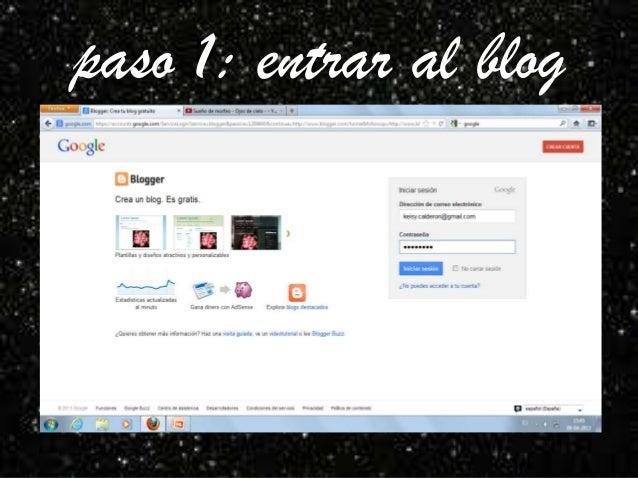 paso 1: entrar al blog