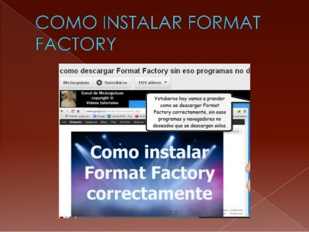 Como instalar format factory