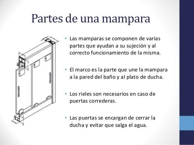 Como instalar una mampara de ducha for Partes de una llave de ducha