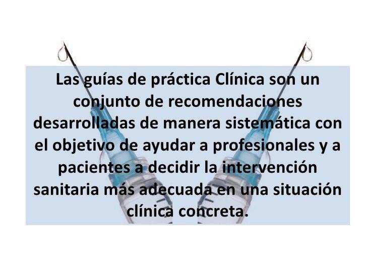 Guía de Practica Clinica Como leer
