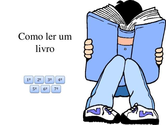 Como ler um  livro  1º 2º 3º 4º  5º 6º 7º