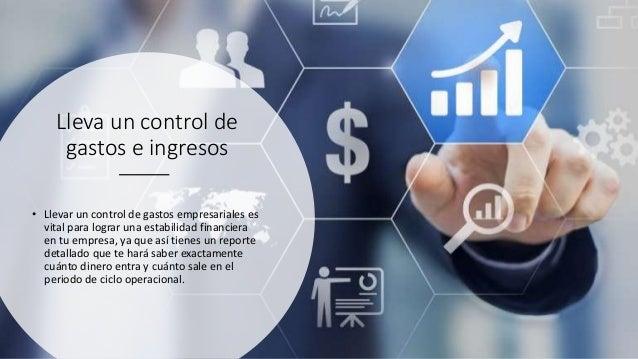 Lleva un control de gastos e ingresos • Llevar un control de gastos empresariales es vital para lograr una estabilidad fin...
