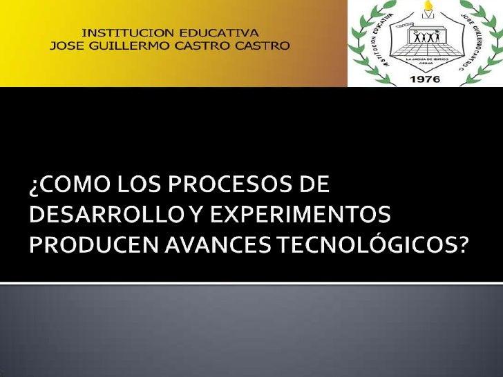 El siguiente trabajo tiene como objetivo comprender laimportancia del estudio de la innovación de la Tecnología y conella ...
