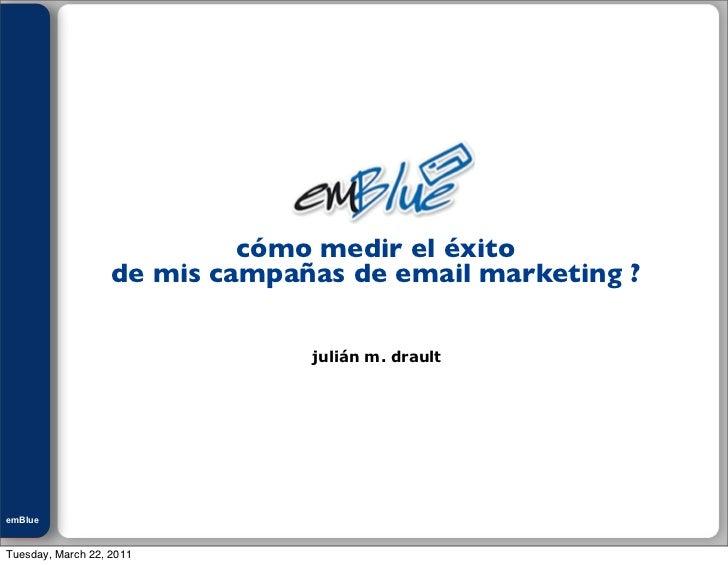 Julián M. Drault                             cómo medir el éxito                    de mis campañas de email marketing ?  ...
