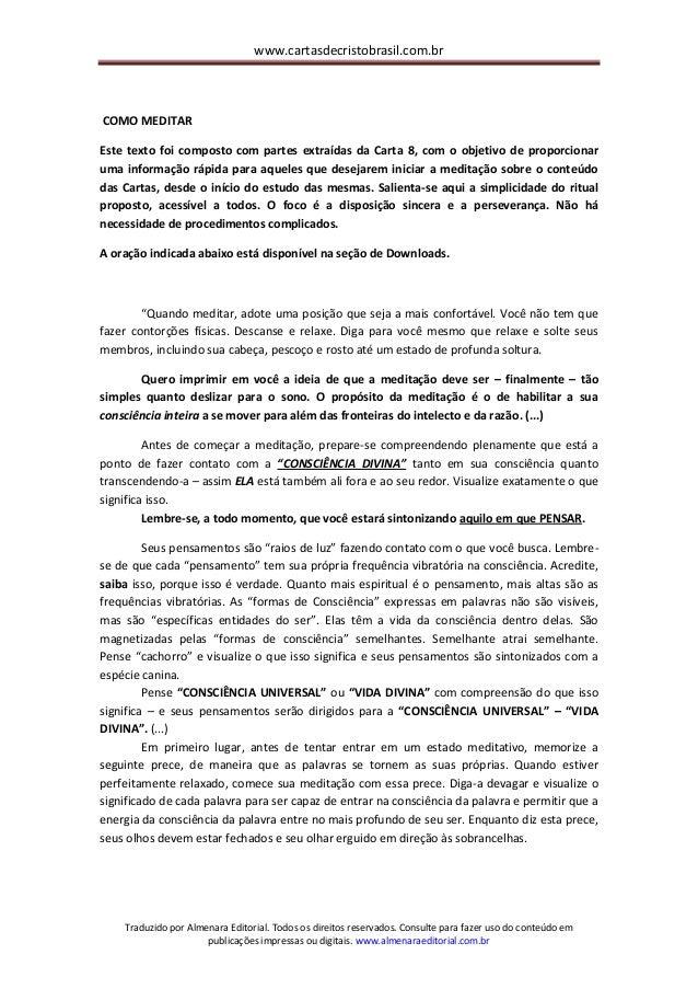 www.cartasdecristobrasil.com.br Traduzido por Almenara Editorial. Todos os direitos reservados. Consulte para fazer uso do...